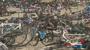 Large collection of bikes at Calgary landfill creates conversation