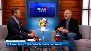 NHL legend Bryan Trottier straps his skates on once again