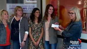 Family of slain mother and daughter donate funds to Calgary women's shelter