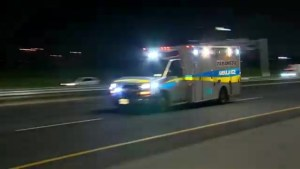 Police use GPS, spike strips to stop stolen ambulance near Wasaga Beach, Ont.