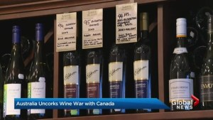 Australia uncorks a wine war with Canada