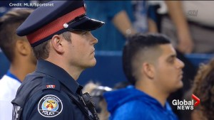 Toronto Blue Jays hold moment of silence in honour of victims and first responders of van attack