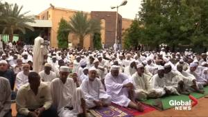 Sudanese protesters gather for Eid prayers after day of violence
