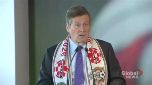 Mayor John Tory discusses the costs associated with hosting World Cup games in Toronto