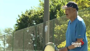 100-year-old West Island tennis player says love, diet give him advantage