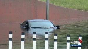 Storm slams into Edmonton and floods roads and underpasses