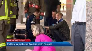 Multiple fatalities after pedestrians struck by van in north Toronto