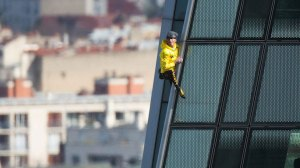French 'Spider-Man' climbs Paris skyscraper to save Notre-Dame cathedral