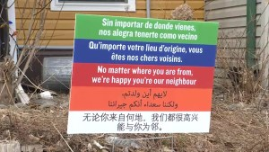 Welcome signs fight racial discrimination