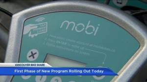 Mixed reaction to Vancouver's Mobi bike sharing program
