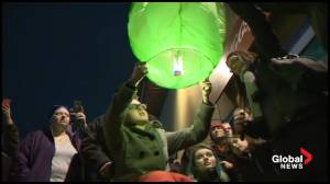 Becca Schofield scratches another bucket list item, releasing Chinese lantern