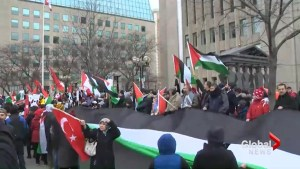 Rally held in Toronto to protest Trump's recognition of Jerusalem as Israel's capital
