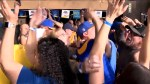 Los Angeles Rams fans celebrate conference championship win sending them to Super Bowl