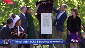 Prince William and Kate help to unveil plaque at UBC Okanagan