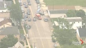 Aerial footage of active shooter situation in Kerkersville, Ohio