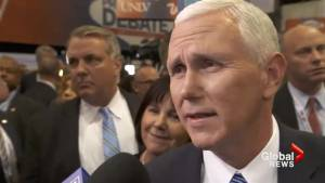 Pence: Trump will 'be elected president,' shrugs off threat that he won't concede Clinton victory