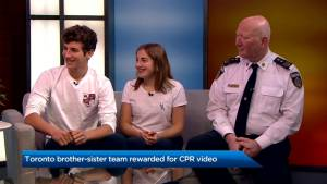 Toronto brother-sister team rewarded for CPR Video