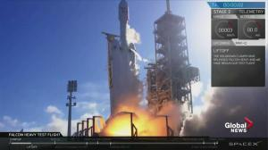 SpaceX launches the Falcon Heavy, world's most powerful rocket