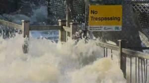 Ontario Premier Doug Ford tours flood ravaged cottage country