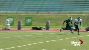 2 vying for middle linebacker slot at Saskatchewan Roughriders training camp