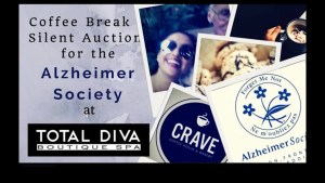 Total Diva Spa pairs with the Alzheimer's Society for the upcoming Coffee Break and Silent Auction event