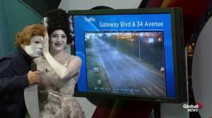 Global Edmonton Halloween 2018: Michael Myers & bride of Frankenstein