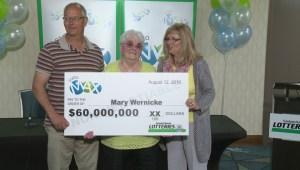 Neville, Sask. woman wins $60 million on Lotto Max ticket