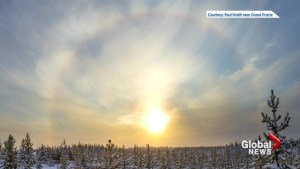 Winter weather phenomena: halos and sun dogs