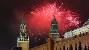 New Year's 2019 fireworks illuminate Moscow's Red Square