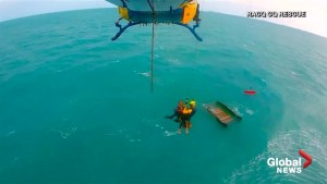 American sailor rescued after boat capsizes off Australian coast