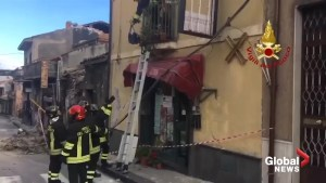 Recovery work continues following powerful earthquake in Italian city of Catania