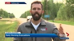Some Alberta wildfire evacuees heading to Calling Lake