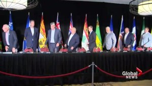 Premiers meeting in N.B. focuses on carbon pricing, trade an universal health care