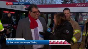 Calgary's mayor drops by The Morning of Giving