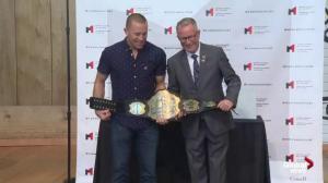 Canadian Museum of History unveils Georges St-Pierre UFC 94 championship belt