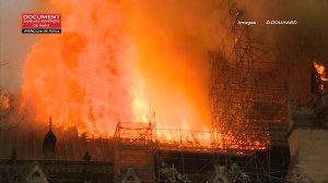 Notre Dame fire: Paris fire brigade footage shows extent of cathedral blaze