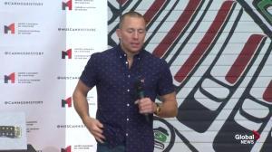 Georges St-Pierre says agents trying to arrange Khabib Nurmagomedov fight
