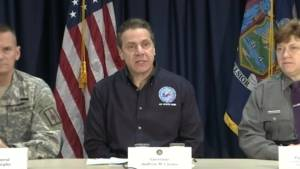 N.Y. Governor declares state of emergency during U.S. blizzard