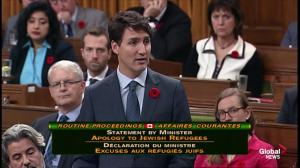 """""""Your country failed you:"""" Trudeau apologizes for Canadian government turning away MS St Louis refugees in 1939"""