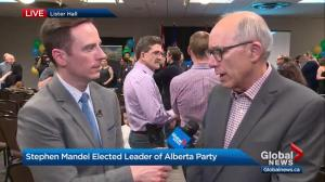 Interview with new Alberta Party Leader Stephen Mandel