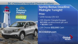Choices Lottery early bird deadline