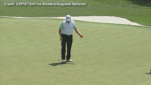 Ernie Els six putts for a record 9 on first hole in opening round of The Masters