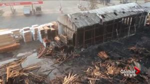 Extensive damage from Abbotsford lumber mill fire