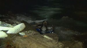 Driver charged with impaired driving after vehicle plunges into Lake Ontario near Oakville