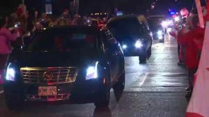 Thousands greet Cpl. Nathan Cirillo's procession arriving in Hamilton