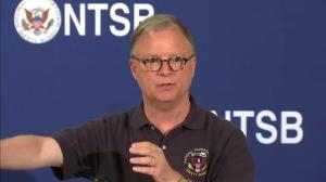 NTSB describes point of impact on derailed Amtrak train's windshield