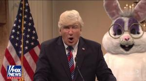 'I don't care about America' declares SNL's Trump in freewheeling news conference