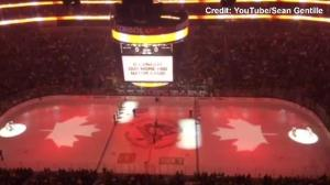 'O Canada' played before Penguins/Flyers game in Pittsburgh
