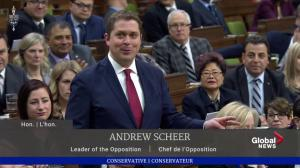 Scheer accuse Trudeau of using budget to 'hide something' amid SNC-Lavalin controversy