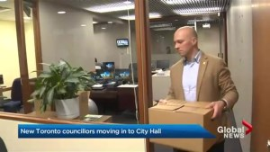 New councillors move into city hall